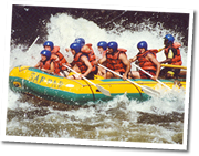Whitewater rafting for the more adventurous